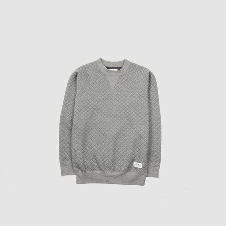 Men's MUTTONHEAD - Classic Crew Quilted Grey