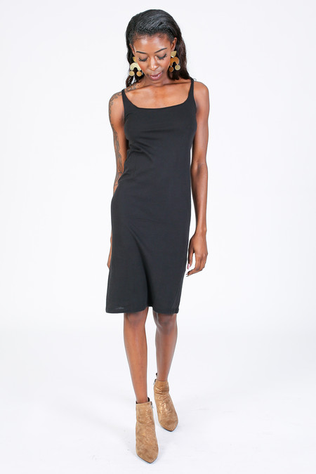 Raquel Allegra Layering tank dress in Black