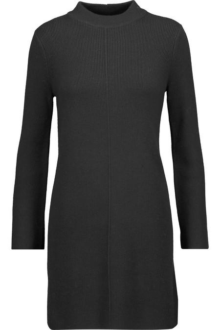LINE TRUDIE MOCK NECK DRESS IN BLACK