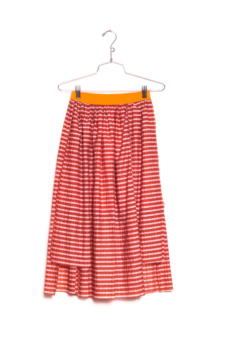 koan nyc asymmetrical panel skirt