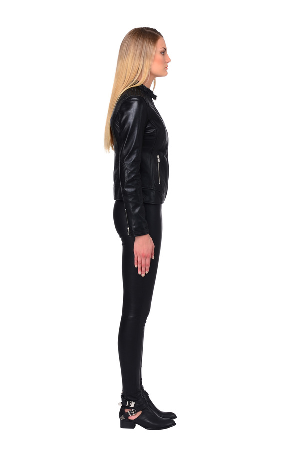 LAMARQUE ALICE Studded Leather Jacket