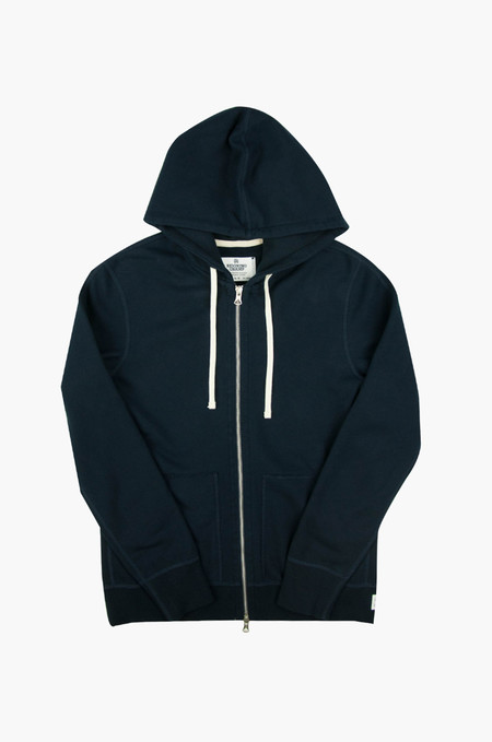 Reigning Champ Midweight Terry Full Zip Hoodie Navy