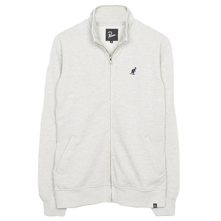 BY PARRA PIQUE FLEECE TRAINER JACKET / HEATHER GREY