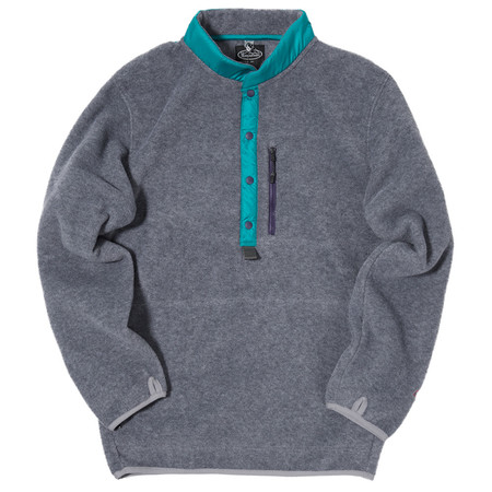 MANASTASH POLARTEC BASE CAMP PULLOVER / HEATHER GREY