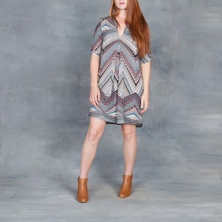 Tart A-line Sack Dress in Printed Geometric Modal
