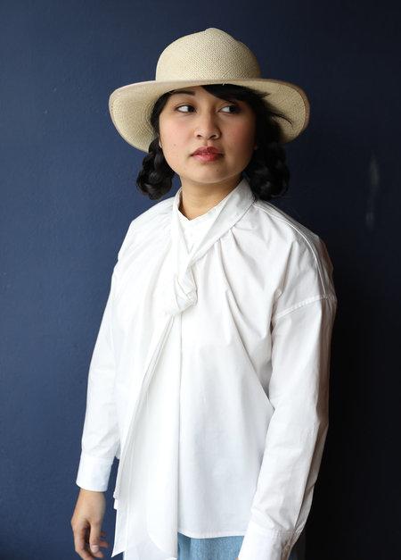 Caron Callahan Daisy Top in White Poplin