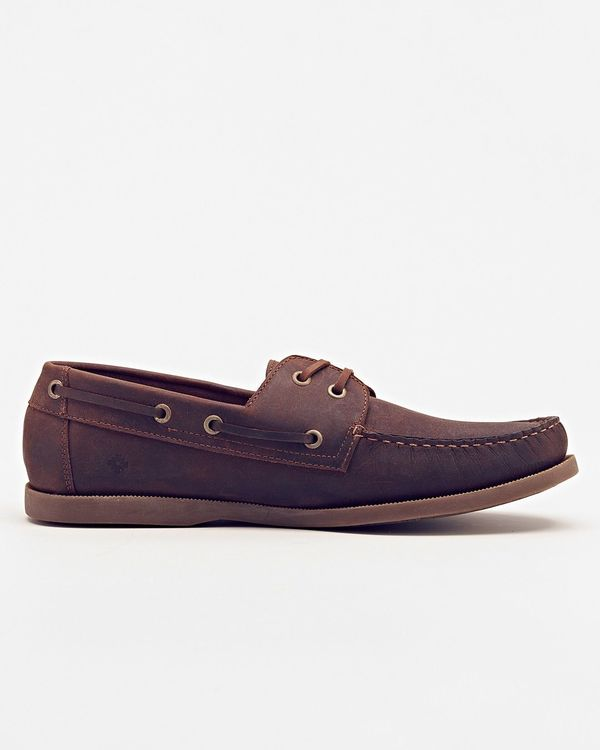 Men's Nisolo Pescador Boat Shoe Driftwood