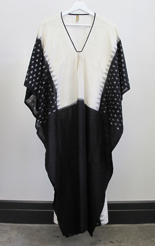 Two New York Ikat caftan with black front