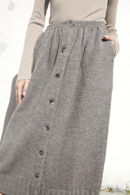 A Détacher Celina Skirt in Taupe