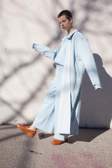 Ashley Rowe Coat in Super Light Denim