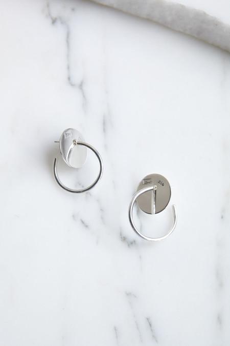 Erin Considine Disc Hoop in Silver
