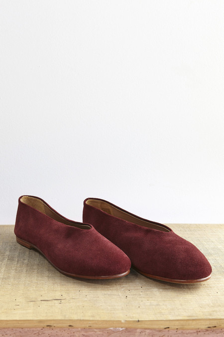 Creatures of Comfort Fred Shoe in Wine Suede