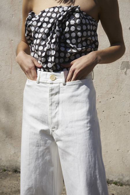 Jesse Kamm Sailor Pant in Salt White