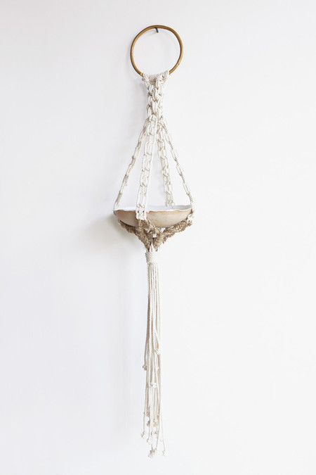KKIBO x Mt Washington Large Macrame Rope Hanging Bowl / Planter in Nautical