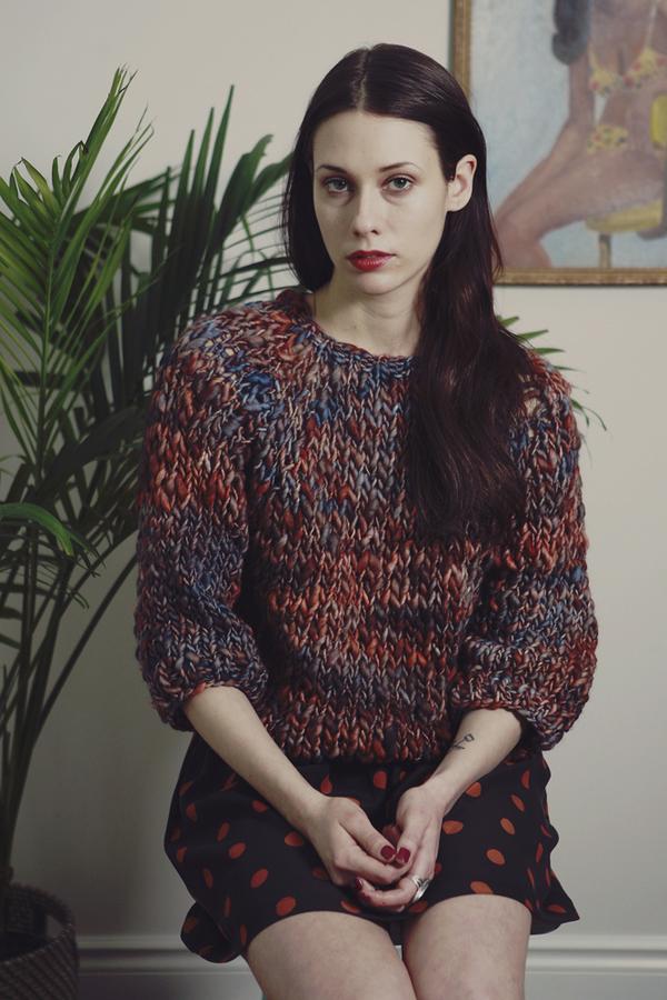 kingston hand knit merino sweater (shown in Nebula)