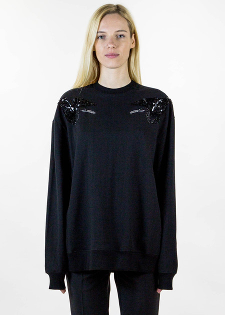 Markus Lupfer Darcy Sequin Black Birds Sweater