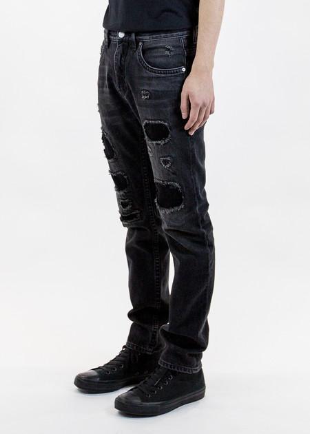 Helmut Lang Mr 87 Black Destroy Jean