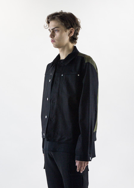 Matthew Miller Renton Bomber Black Denim with Nylon