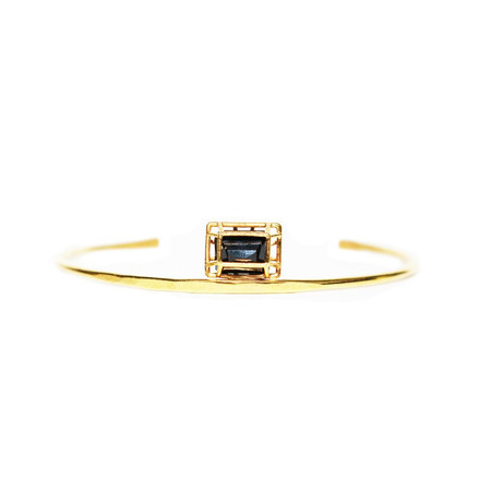 White Feather Designs Emerald Cut Black Spinel Cuff