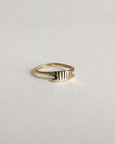 Open House Byzantium ring in brass