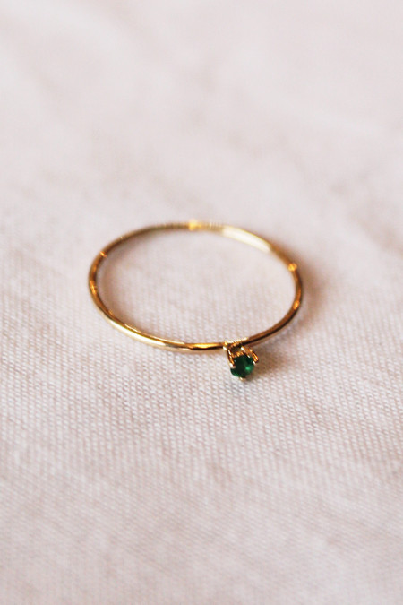 blanca monros gomez tiny emerald solitaire ring