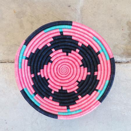 Indego Africa Pink Geometric Plateau Basket