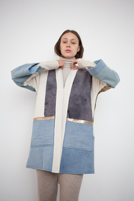 Jess Feury Patchwork Quilt Kimono Jacket