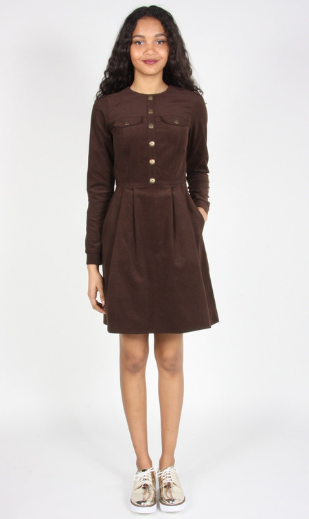 Birds of North America Jacobin Dress (Brown)