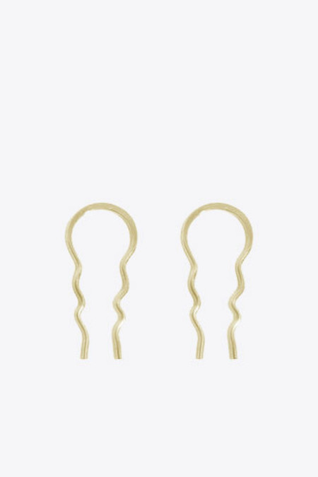 Melissa Joy Manning Small Hairpin Hoop in Yellow Gold
