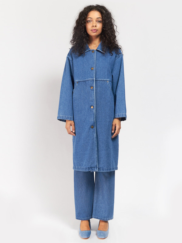 69 Simple Coat Blue