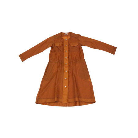 Nomia Snap Front Dress in Rust