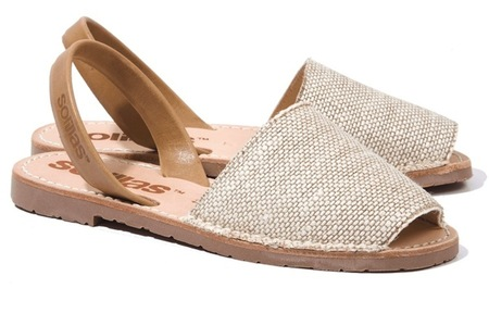 Solillas Natural Textura Sandals