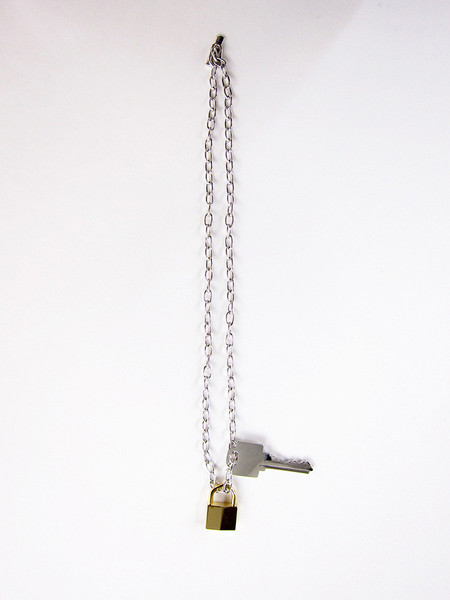 Lauren Klassen Lock and Key Necklace, Silver