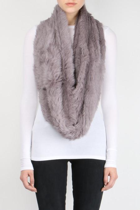 Jocelyn Fur Long Hair Rabbit Infinity Scarf
