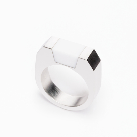 MING YU WANG White Agate SYD Ring
