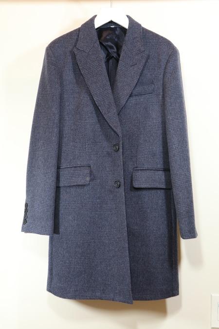 Hardy Amies Blue Check Topcoat
