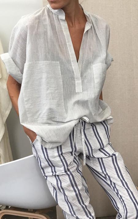 Two New York Pinstripe Two Pocket Shirt