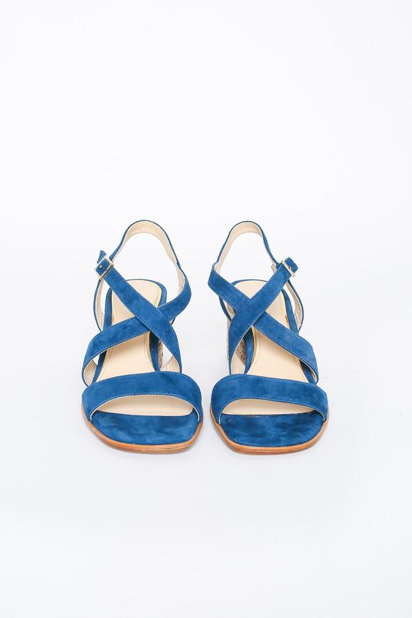 Paloma Barcelo Open Toe Strappy Sandal in Azul