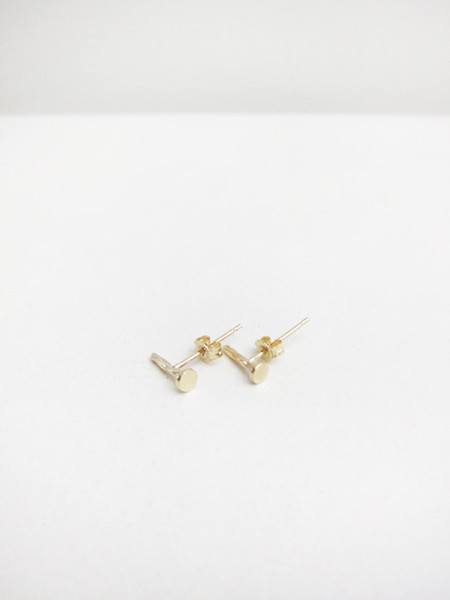 Lauren Klassen Tiny Nail Earrings, 14k gold
