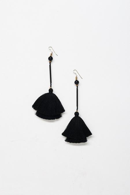 Ora-C Mixed Material Raia Tassel Earrings