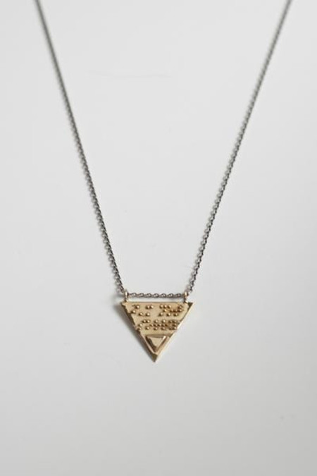 Covet + Keep kate silver and brass necklace