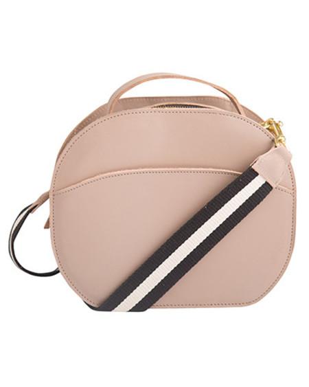 Oliveve nina canteen bag in mink saddle leather