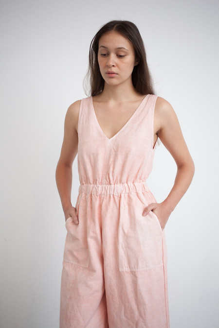 Ulla Johnson Zoe Jumpsuit in Peach