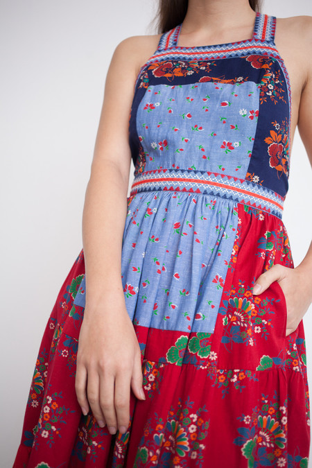 Ulla Johnson Lune Dress in Patchwork