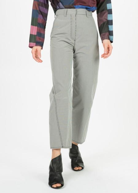 Hache Micro Check High-Waisted Pants