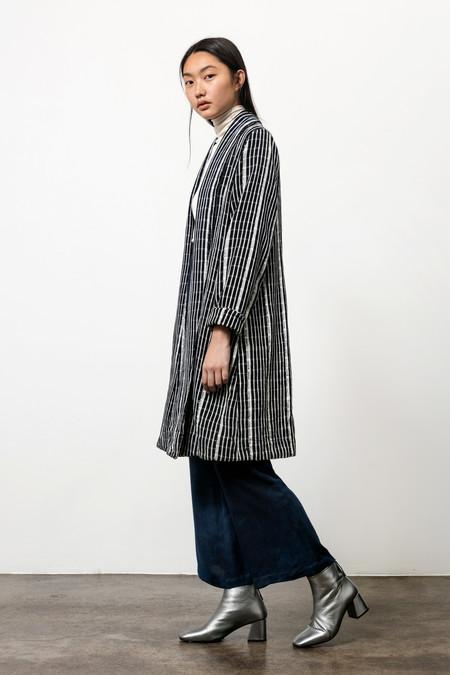 Osei-Duro Theca Coat in Handwoven Grid