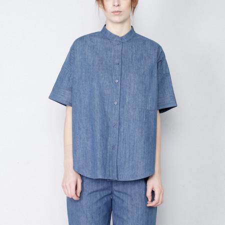 7115 by Szeki Denim Pocket Shirt - SS17