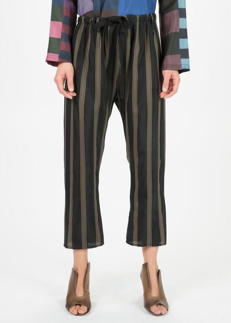 Hache Striped Cupro Pants