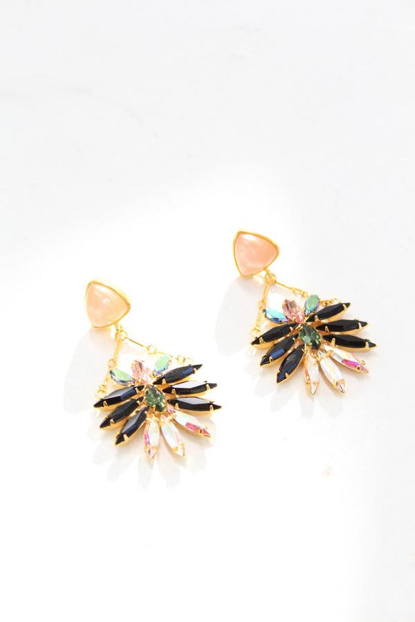 Lizze Fortunato Jet Set Earrings