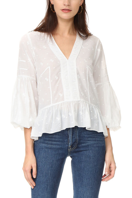 Ulla Johnson ETIENNE BLOUSE - IVORY